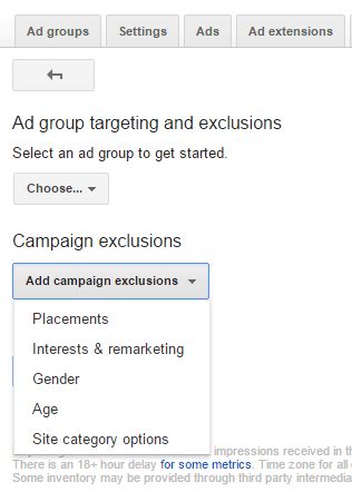 Campaign Exclusions